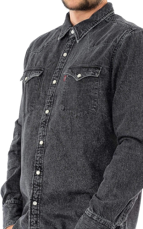 Camisa vaqueros Levis Barstow Western Black Acid Wash gris ...