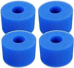 JKKJ Pool Filter Cartridge voor Intex S1 Type, 4 Pack Filter Spons Herbruikbare Wasbare Filter Cleaner Tool Foam Cartridge...