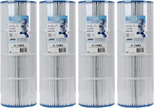 Unicel 4 C-7483 Spa Replacement Filter Cartridges 81 Sq Ft Hayward Swim Clear