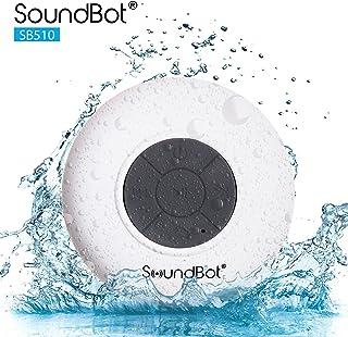SoundBot SB510 HD Water Resistant Bluetooth 3.0 Shower Speaker, Handsfree Portable..