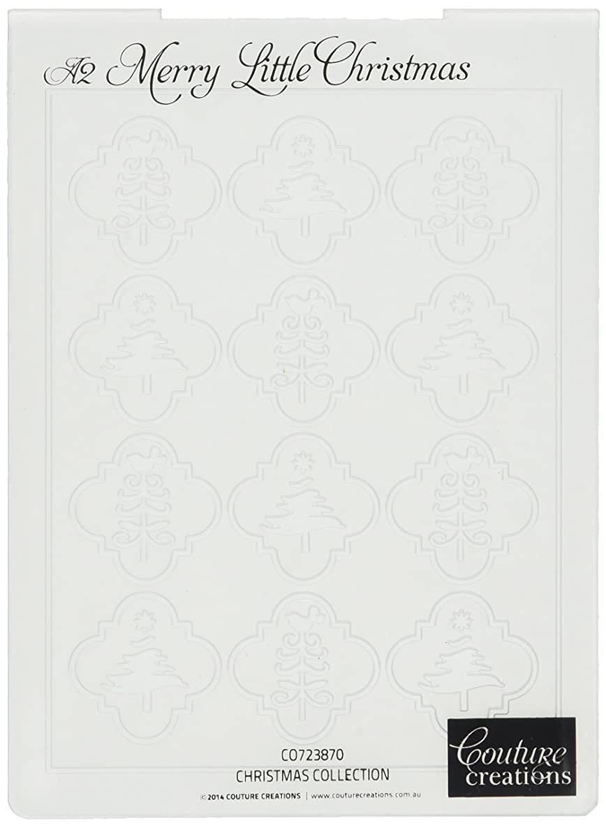 Couture Creations L1CH06501509 Christmas Collection Embossing Folder, 4 by 6-Inch, Merry Little Christmas