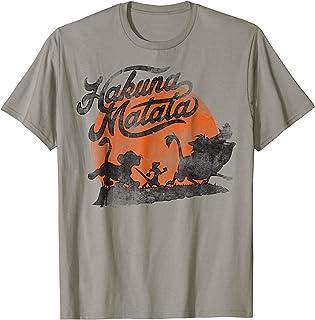 6115270a Disney Lion King Hakuna Matata Orange Sunset Vintage T-Shirt