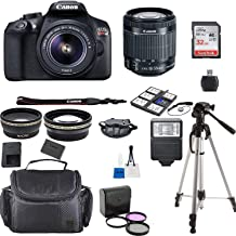 Canon EOS Rebel T6 Kit with EF-S 0.709-2.165 in f/3.5-5.6 is II Lens + Accessory Bundle + Model Electronics Cloth Negro lente para cámara fotográfica