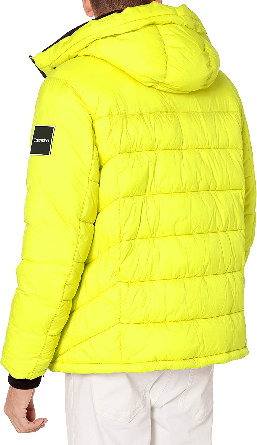 Calvin Klein Men's Slim Fit Max 57% OFF Water Puff 25% OFF Hooded and Resistant Wind