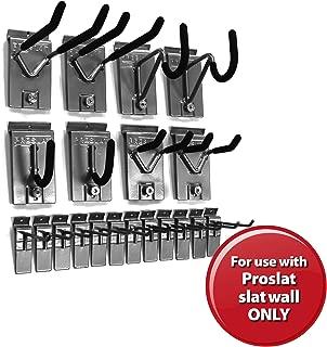 Proslat 11004 1/8-Inch Backplates Steel Hook Kit Designed for Proslat PVC Slatwall, 20-Piece