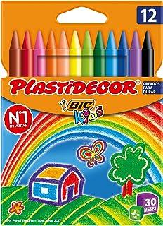 comprar comparacion BIC Kids Plastidecor - Blíster de 12 unidades, ceras para colorear, colores surtidos