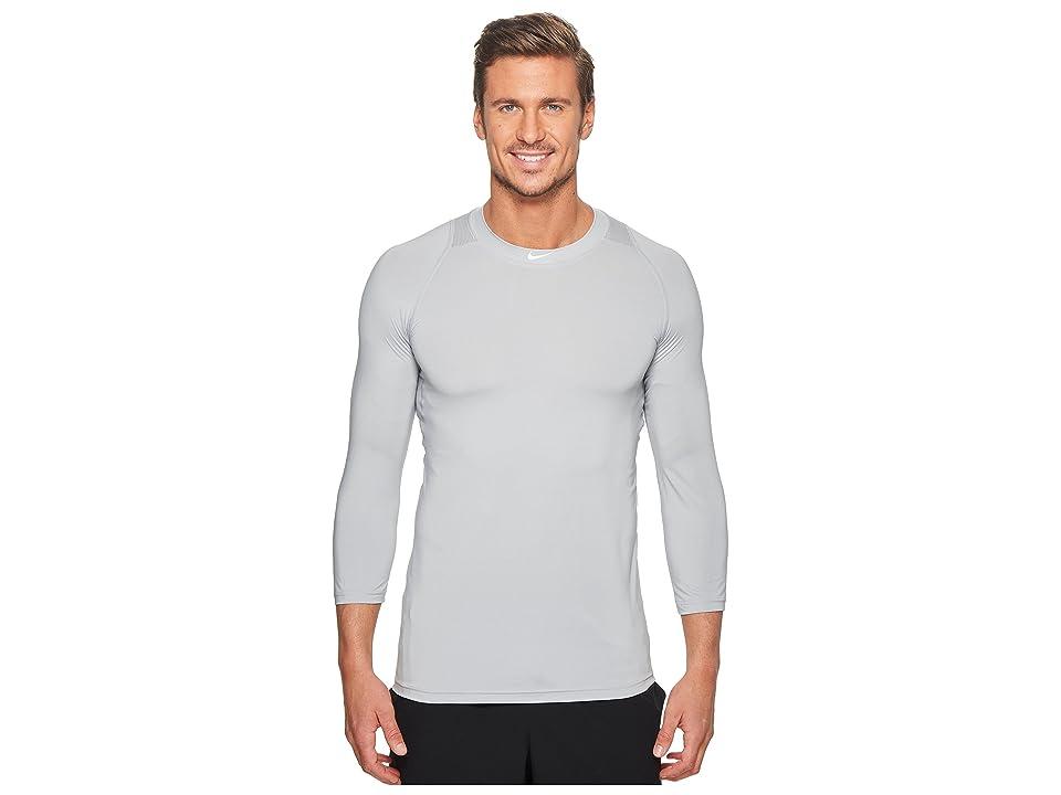 Nike Pro 3/4 Sleeve Baseball Top (Wolf Grey) Men