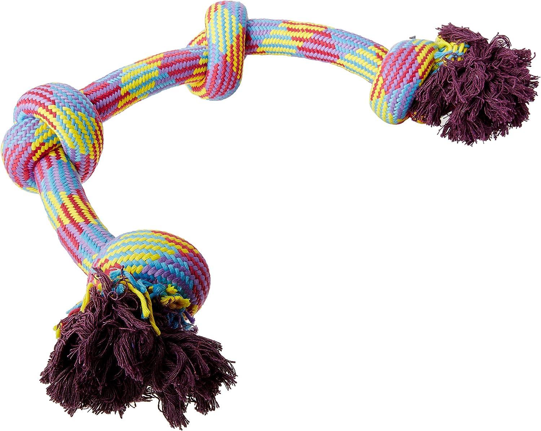 Mammoth Flossy Chews Braidys 4 Knot Rope Tug  34 in