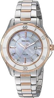 Women's Diamond Solar Japanese-Quartz Watch with...