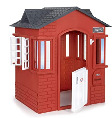 Little Tikes Cape Cottage Playhouse with Working Doors, Windows, and Shutters - Red