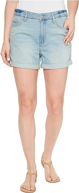 Whisper Weight Boyfriend Shorts in Ocean Bleach
