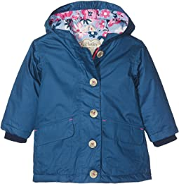 Hatley Kids - Navy Cotton Coated Raincoat (Toddler/Little Kids/Big Kids)