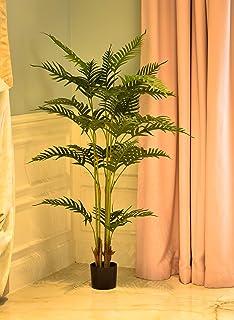 شجرة نخيل اصطناعية من ياتاي بارتفاع 1.3 متر مع وعاء بلاستيكي لتزيين المنزل والحديقة - نباتات اصطناعية داخلية