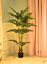YATAI Artificial Paradise Palm Tree 1.3 Meters High Artificial Palm Plants with Plastic Pot for Home Garden Decoration – F...