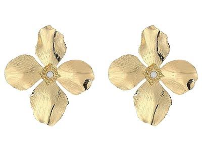 SHASHI Flower LG Stud Earrings (Gold) Earring