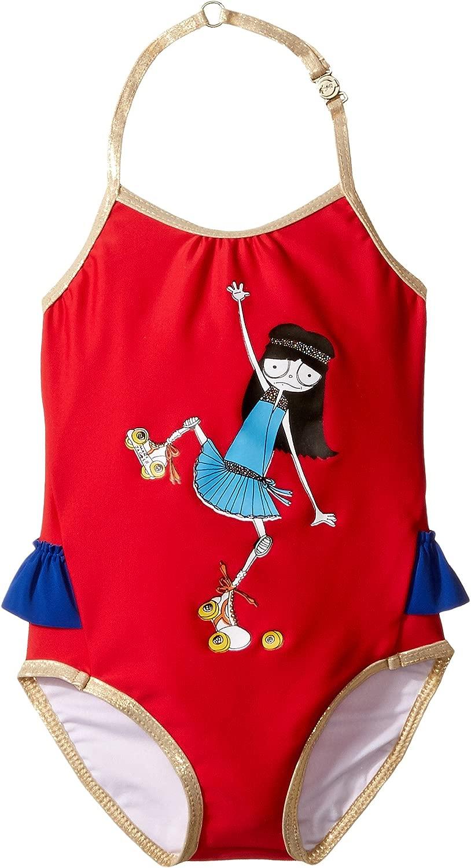 [マークジェイコブス] Little Marc Jacobs レディース Miss Marc One-Piece Swimsuit (Infant) 水着 Pop 赤 9 Months [並行輸入品]