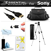 Essential Accessory Kit For Sony HDR-CX130 HDR-CX160 HDR-CX360V HDR-CX560V HDR-CX700V HDR-PJ10 HDR-PJ30V HDR-PJ50V HDR-TD10 HDR-XR160 Camcorder Includes 50 Tripod + Case + Mini HDMI Cable + More