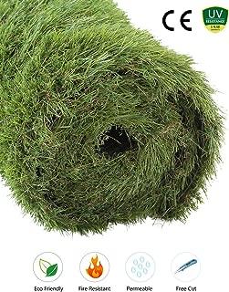 GOLDEN MOON Outdoor Turf Rug Premium Artificial Grass Mat 1.7