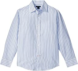 Tommy Hilfiger Kids Double Twill Stripe Shirt (Big Kids)