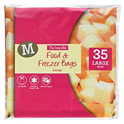 Morrisons Large Tie Handle Food and Freezer Bags, 35 Bags
