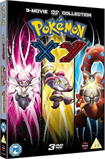 Pokemon Movie 17-19 Collection: XY (Diancie and the Cocoon of Destruction, Hoopa and the Clash of Ages, Volcanion and the ...