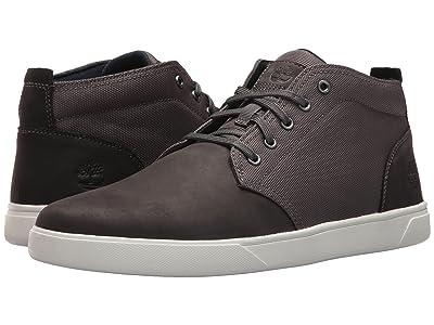 Timberland Groveton Leather and Fabric Chukka (Dark Grey Nubuck) Men