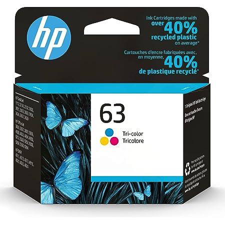 Original HP 63 Tri-color Ink Cartridge | Works with HP DeskJet 1112, 2130, 3630 Series; HP ENVY 4510, 4520 Series; HP OfficeJet 3830, 4650, 5200 Series | Eligible for Instant Ink | F6U61AN