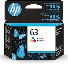 Original HP 63 Tri-color Ink Cartridge | Works with HP DeskJet 1112, 2130, 3630 Series; HP ENVY 4510, 4520 Series; HP Offi...