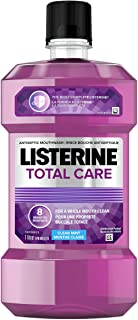 Listerine Total Care Mouthwash, Fluoride Mouthwash for Bad Breath, Helps Keep Teeth White, 1L