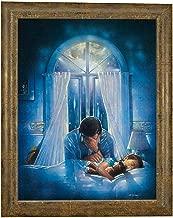 Ron DiCianni SPIRITUAL WARFARE Canvas on board Framed CHRISTIAN ART Prayer Inspirational ANTIQUE GOLD FRAME -
