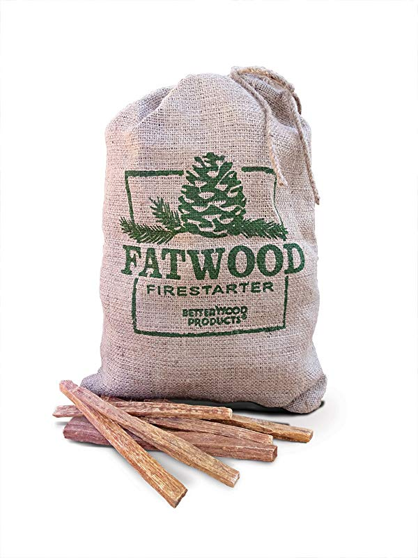 Better Wood Products Fatwood Firestarter Burlap Bag 10 Pounds