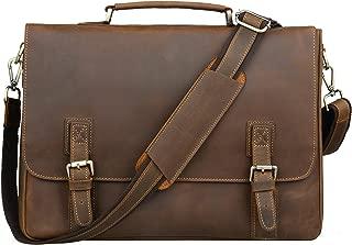 Classical Men's Leather Briefcase Laptop Bag Messenger Shoulder bag,N8069