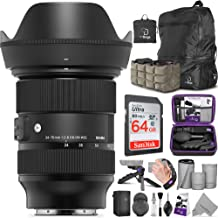 $1059 » Sigma 24-70mm f/2.8 DG DN Art Lens for Sony E Mount with Altura Photo Advanced Photo and Travel Bundle
