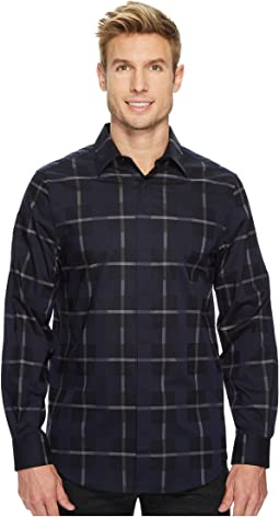 Long Sleeve Exploded Plaid Dobby Shirt