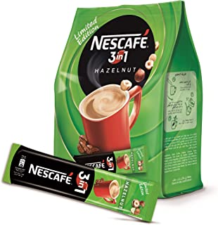 Nescafe 3in1 Hazelnut Coffee Mix, 17 gm (20 Sticks) Pouch