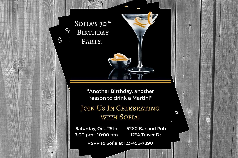 Martini Invitation Ranking Classic TOP10 Adult Invi Birthday Liquor