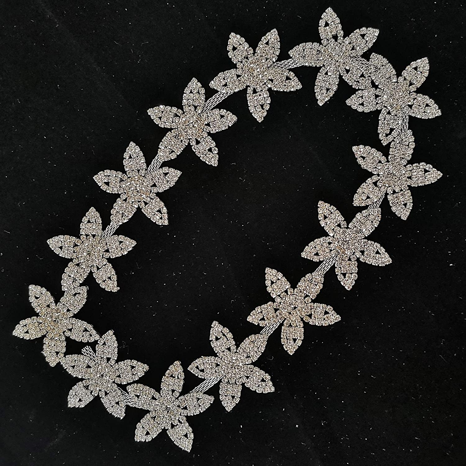 DIY Seattle Mall Sewing blinding Rhinestone Chain Bridal for Flower Quality inspection Applique