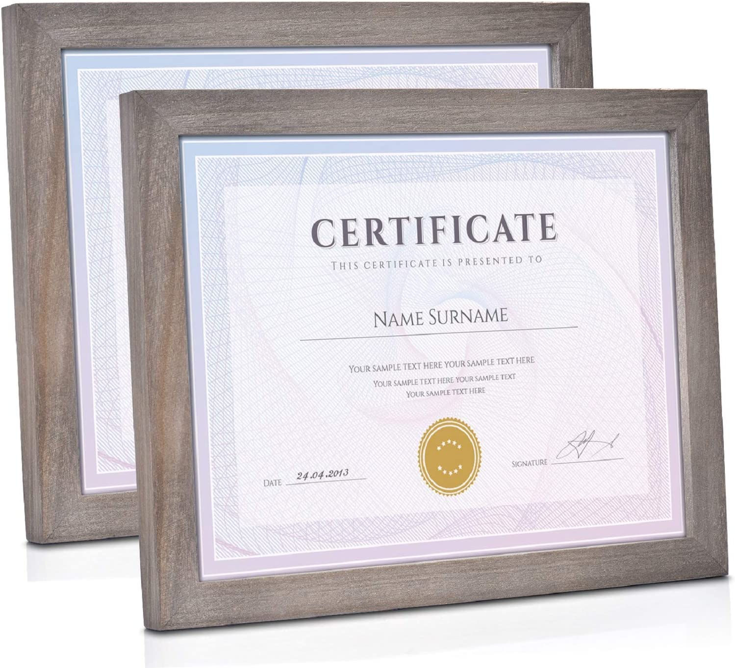 Emfogo Jacksonville Mall Picture Frames 8.5x11 with Stand Certificate Rusti Low price