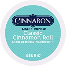 Cinnabon Classic Cinnamon Roll, Single-Serve Keurig K-Cup Pods, Flavored Coffee, 48 Count