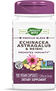 Nature's Way Echinacea Astragalus & Reishi, 1,200 mg per serving, 100 Capsules