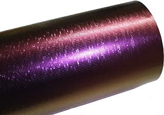 Finest Folia (10,56€/m²) GS01 3D Matrix Purple Chamäleon Folie BLASENFREI Luftkanäle Auto Folieren (50 x 152cm)