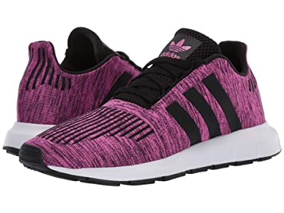 adidas Originals Kids Swift Run J (Big Kid) (Shock Pink/White/Black) Girls Shoes
