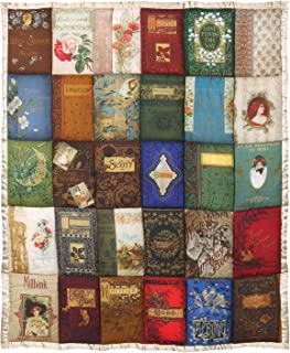 Victorian Trading Co. Cover to Cover Book Throw Blanket - Quilted Book Covers Pattern