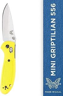 Benchmade Pardue Mini-griptilian 530v Steel Drop-point Blade Knife - 556-yel-s30