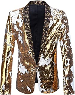 2019 New Style Star With A Small Sequined Gold Sequined Jacket Jacket Host Performance Men s Dress Novelty & Special Use Ballroom
