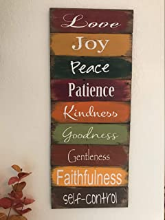 Venu67Hol Fruits The Spirit 9 Signs Each 12 Tall 13 Wide signwood Plaque signsfruits The spiritBiblequotesfor The homehome Decor