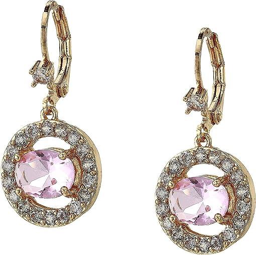Gold/Light Rose Crystal/White CZ
