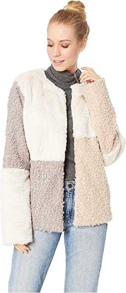 Patchwork Faux Fur Jacket