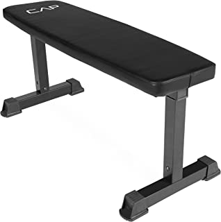 CAP Barbell Flat Weight Bench, Black