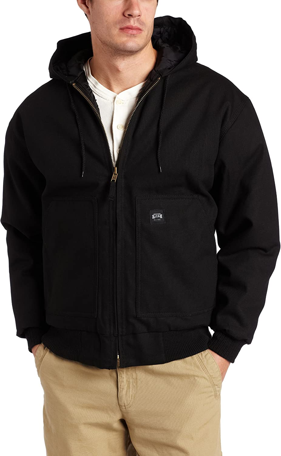 Key Industries Men's Insulated Hooded Duck Jacket